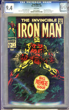 Iron Man #1 CGC 9.4 NM WHITE Pages Universal CGC #0161524001