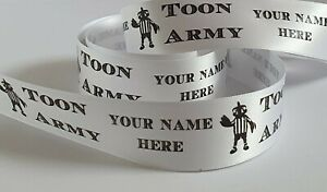 Newcastle Ribbon choose your own name 25 or 38 mm wide satin ribbon cake ribbon