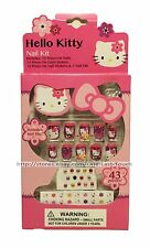 Hello Kitty 43 pc Nail Kit Gem Stones, Press on Nails, Stickers, and File NEW