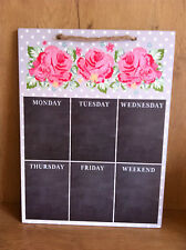 POLKA DOT  WALL MOUNT KITCHEN MENU WEEKDAYS PLANNER MEMO MESSAGE CHALK BOARD