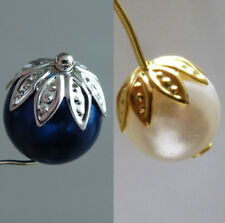 40pcs Metal Flower Bead End Caps 10mm Silver/Gold/Copper/Bronze Beading Supplies