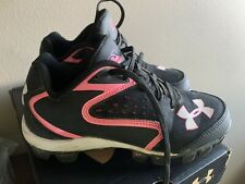 Girls Under Armour Softball Cleats Shoes Size 1.5
