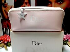 "Dior Makeup Bag✰☾Large Wide Mouth Light Pink☽✰ ~ **Elegant** ~✰☾☾"" WITH BOX ""☽☽✰"