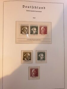 FEDERAL REPUBLIC OF GERMANY AND BERLIN 1969 Full stamp sets  MNH