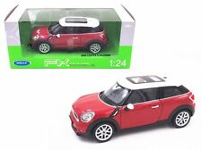 WELLY 1:24 W/B 2014 MINI COOPER S PACEMAN Diecast Car Model Red Color