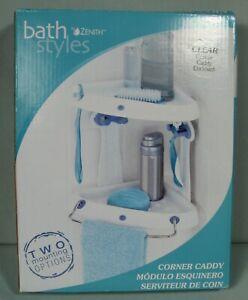 Zenith Bathstyles Clear Corner Caddy Shower Organizer