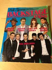 2013 Backstage Pass Book ONE DIRECTION-TAYLOR SWIFT-JUSTIN BIEBER Bruno Mars
