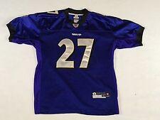 Kids Baltimore Ravens Ray Rice purple STITCHED On-Field Reebok Youth Jersey - XL