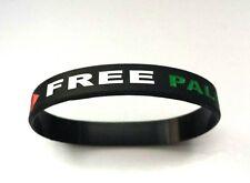 Rubber Wristband *Free Palestine* *Save Gaza* BLACK