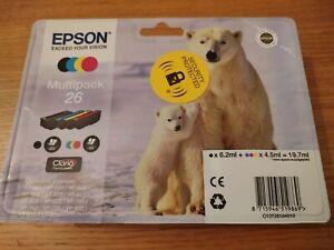 Genuine Epson 26 Black Cyan Magenta Yellow Multi Pk Polar Bear Ink Cartridge New