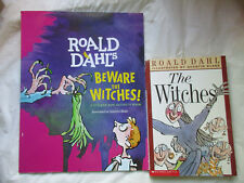 #~Lot of 2~Roald Dahl The Witches~Book and Activity/Sticker Book~LBDAY