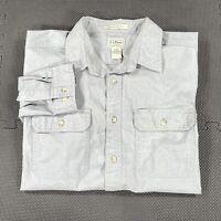 LL Bean Traditional Fit Button Up Long Sleeve Shirt Men's XL Gray Outdoors
