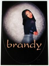BRANDY   promo peel off sticker postcard  1990's