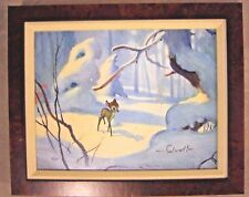 Bambi Jim Salvati Disney - Sold Out - Canvas LE 7/95 Signed Giclee