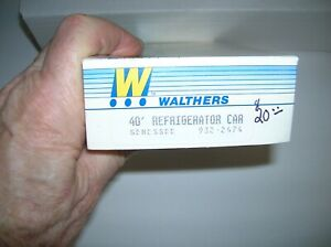 """WALTHERS HO 932-2474 """" GENESSEE BEER REEFER """" KIT , LOT # 20566"""
