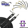 Analysis Plus 1 ft PAIR of Black Oval Patch Cables w/ Straight/Straight Plugs