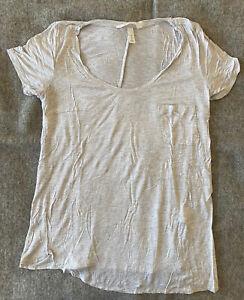 H&M Mama Maternity Women Gray Short Sleeve T-Shirt Size S