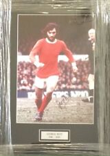 GEORGE BEST GENUINE AUTHENTIC SIGNED MANCHESTER UTD PRESENTATION AFTAL#198