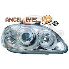 Scheinwerfer Set für Honda Civic 96-99 Klarglas/Chrom Angel Eyes