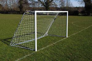 Pair of 12x6 Mini Soccer Freestanding Aluminium Football Goals -Made in the UK