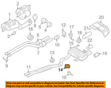 BMW OEM 07-13 328i 3.0L-L6 Exhaust System-Center Muffler Clamp 18307536426