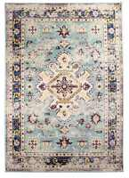 Super Area Rugs Persian Overdyed Vintage Traditional Distressed Rug in Blue