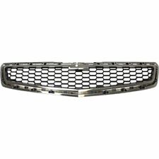 Grille For 2013-2014 Chevrolet Malibu Lower Chrome Shell w/ Black Insert Plastic