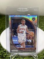 Stephen Curry 2020-21 Prizm USA Silver Prizm SSP!🔥rare Free Shipping Invest💎