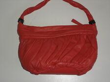 Ladies Orange Coral Leather Handbag