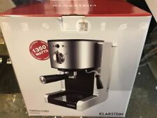 Espresso Coffee Machine Milk Frother  6 cups Kitchen Silver 15 Bar Electric