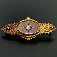 Antico Vittoriano 15K ORO GIALLO VECCHIA MANIERA diamante tagliato &