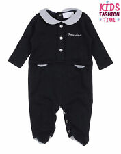 Rrp €115 Story Loris Babygrow Size 1M / 54Cm Contrast Colour Trim Made in Italy