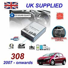 For Peugeot 308 MP3 SD USB CD AUX Input Audio Adapter Digit CD Changer ModuleRD4