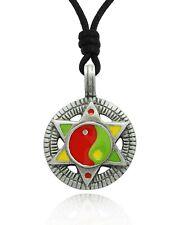 Star of David Yin Yang Rasta Reggae Music Jamaica Necklace Pendant Jewelry