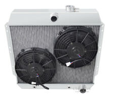 "1949 1950 1951 1952 1953 1954 Chevrolet Cars 4 Row Advanced Radiator 2 10"" fans"