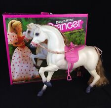 Barbie Dream Horse Prancer White Arabian Toy Doll 1983 Mattel Arab Pony Garland