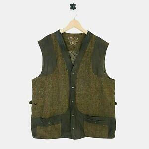 Mens Harris Tweed Overchecked Herringbone Waistcoat Size UK 48 EU 58