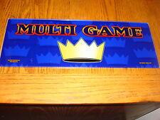 MULTI GAME CASINO MACHINE GLASS , GAME ROOM OR MANCAVE SIGN