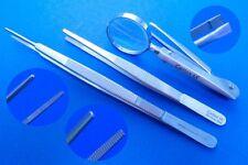 3er Set Lupenpinzette/ Lupenzupfpinzette,anatomische Pinzetten,Top Qualität