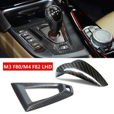 LHD for BMW M3 F80 M4 F82 Carbon Fiber Car Gear Shift Knob Cover Base Cover Trim
