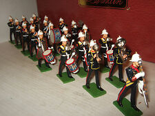 Britains 41102 Rare 21 Piece Marching Band of the Royal Marines, 2 Tier Box Set