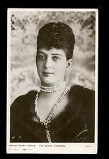 Royalty HM QUEEN ALEXANDRA vintage RP PPC
