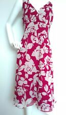 HOBBS floral silk dress size 14 --USED ONCE-- below knee 100% silk fully lined
