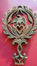 Antique American John Wright Cast Iron Trivet~Eagle/Olive Branches/Serpents
