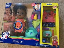Baby Alive Exclusive Potty Dance Value Pack Black Curly Hair w/ Sticker Chart