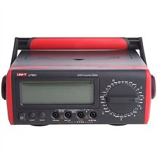 UNI-T UT801 Bench Type Digital Multimeter Thermometer, LCD Display, Data Hold