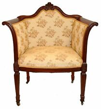 Antique Hepplewhite Sheraton Regency Mahogany Armchair Original Finish 1900's