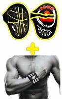 Kraft sport Fitness Grip-Pad Griffpolster Handgelenk Bandage Bodybuilding Qualit