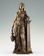 Eutrope Bouret 1833-1906 Bronze Skulptur Ägyptische Wasserträgerin 1860 Statue