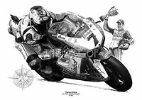 Carlos Checa Ducati World Superbike by Billy limited edition fine art print